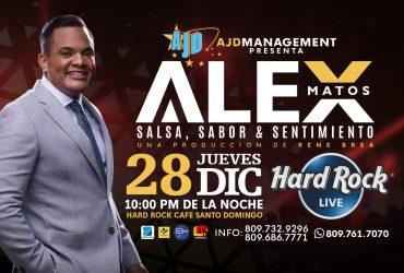 Alex Matos, Salsa Sabor y Sentimiento en Una Sola Noche!!   HARD ROCK LIVE del Blue Mall, Jueves 28 de Diciembre