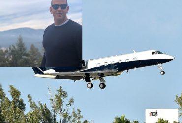 Avión de Alex Rodríguez hace aterrizaje de emergencia